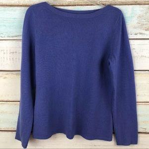 Peck & Peck 2Ply Cashmere Purple Boatneck Sweater